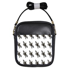 Insect Animals Pattern Girls Sling Bags