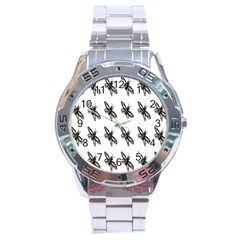 Insect Animals Pattern Stainless Steel Analogue Watch