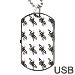 Insect Animals Pattern Dog Tag USB Flash (Two Sides)