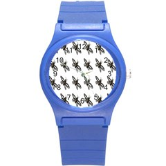 Insect Animals Pattern Round Plastic Sport Watch (s)