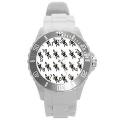 Insect Animals Pattern Round Plastic Sport Watch (L)