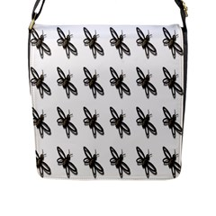 Insect Animals Pattern Flap Messenger Bag (l)