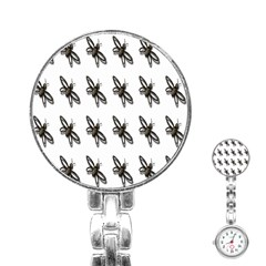 Insect Animals Pattern Stainless Steel Nurses Watch
