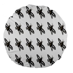 Insect Animals Pattern Large 18  Premium Flano Round Cushions