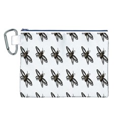 Insect Animals Pattern Canvas Cosmetic Bag (L)