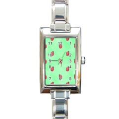 Pretty Background With A Ladybird Image Rectangle Italian Charm Watch