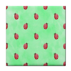 Pretty Background With A Ladybird Image Tile Coasters