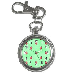 Pretty Background With A Ladybird Image Key Chain Watches