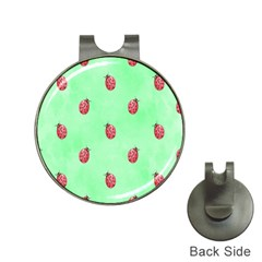 Pretty Background With A Ladybird Image Hat Clips with Golf Markers
