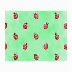 Pretty Background With A Ladybird Image Small Glasses Cloth