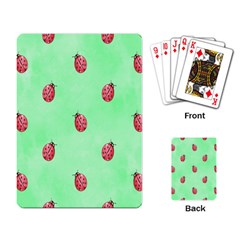 Pretty Background With A Ladybird Image Playing Card