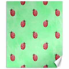 Pretty Background With A Ladybird Image Canvas 8  x 10