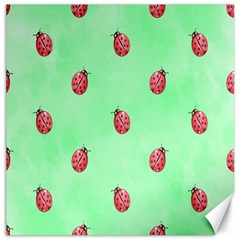Pretty Background With A Ladybird Image Canvas 12  X 12