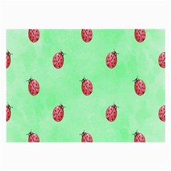 Pretty Background With A Ladybird Image Large Glasses Cloth