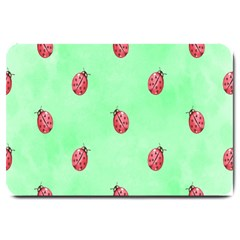 Pretty Background With A Ladybird Image Large Doormat