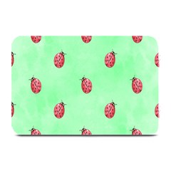 Pretty Background With A Ladybird Image Plate Mats