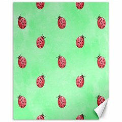 Pretty Background With A Ladybird Image Canvas 11  x 14