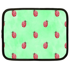 Pretty Background With A Ladybird Image Netbook Case (Large)