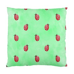 Pretty Background With A Ladybird Image Standard Cushion Case (two Sides)