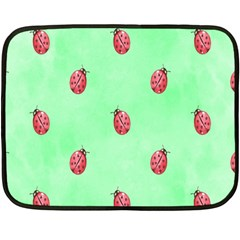 Pretty Background With A Ladybird Image Double Sided Fleece Blanket (mini)