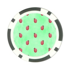 Pretty Background With A Ladybird Image Poker Chip Card Guard (10 Pack)