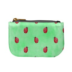 Pretty Background With A Ladybird Image Mini Coin Purses