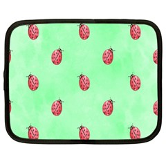 Pretty Background With A Ladybird Image Netbook Case (XL)