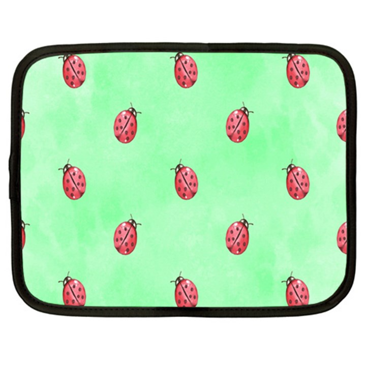 Pretty Background With A Ladybird Image Netbook Case (XXL)