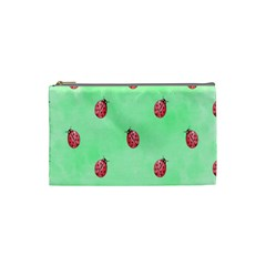 Pretty Background With A Ladybird Image Cosmetic Bag (Small)
