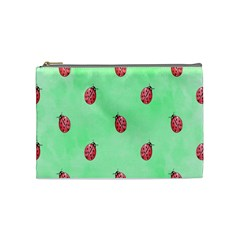 Pretty Background With A Ladybird Image Cosmetic Bag (medium)