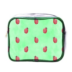 Pretty Background With A Ladybird Image Mini Toiletries Bags