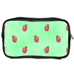 Pretty Background With A Ladybird Image Toiletries Bags