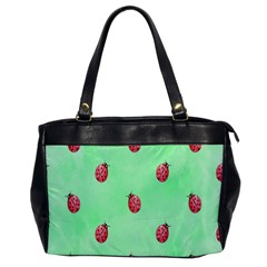 Pretty Background With A Ladybird Image Office Handbags