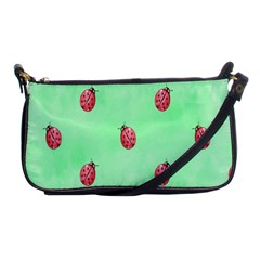 Pretty Background With A Ladybird Image Shoulder Clutch Bags