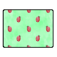 Pretty Background With A Ladybird Image Fleece Blanket (Small)