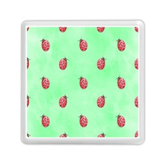 Pretty Background With A Ladybird Image Memory Card Reader (Square)