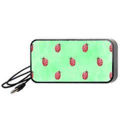 Pretty Background With A Ladybird Image Portable Speaker (Black)