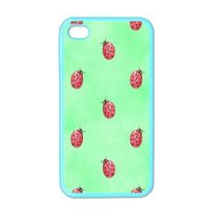 Pretty Background With A Ladybird Image Apple iPhone 4 Case (Color)