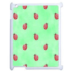 Pretty Background With A Ladybird Image Apple iPad 2 Case (White)