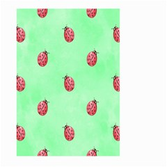 Pretty Background With A Ladybird Image Large Garden Flag (two Sides)