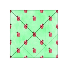 Pretty Background With A Ladybird Image Acrylic Tangram Puzzle (4  x 4 )