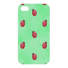 Pretty Background With A Ladybird Image Apple Iphone 4/4s Premium Hardshell Case