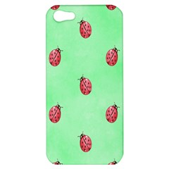 Pretty Background With A Ladybird Image Apple iPhone 5 Hardshell Case
