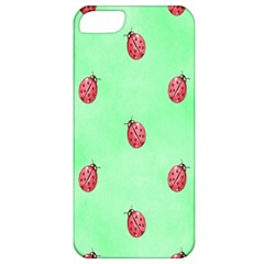 Pretty Background With A Ladybird Image Apple iPhone 5 Classic Hardshell Case