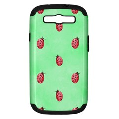 Pretty Background With A Ladybird Image Samsung Galaxy S Iii Hardshell Case (pc+silicone)