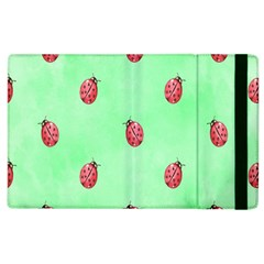 Pretty Background With A Ladybird Image Apple iPad 2 Flip Case
