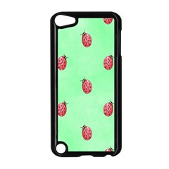 Pretty Background With A Ladybird Image Apple Ipod Touch 5 Case (black)