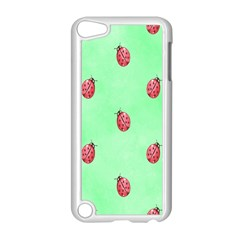 Pretty Background With A Ladybird Image Apple iPod Touch 5 Case (White)