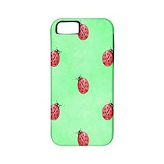 Pretty Background With A Ladybird Image Apple iPhone 5 Classic Hardshell Case (PC+Silicone)
