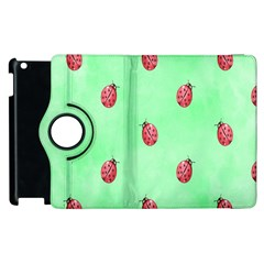 Pretty Background With A Ladybird Image Apple Ipad 3/4 Flip 360 Case